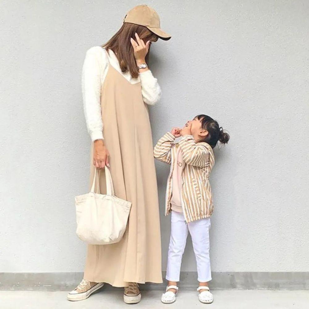 亲子装这么穿!日本妈妈只用优衣库、GU、H&M也能搭出时尚感 穿搭技巧 第5张
