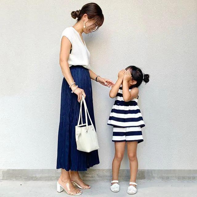 亲子装这么穿!日本妈妈只用优衣库、GU、H&M也能搭出时尚感 穿搭技巧 第4张