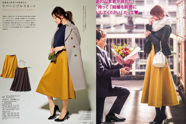 日本时尚达人太会穿半身裙,简约高级又复古,每套都是借鉴模板 穿搭技巧 第1张
