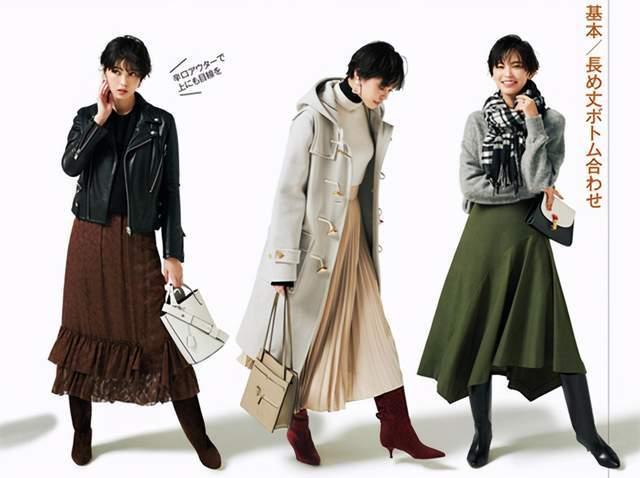 日本时尚达人太会穿半身裙,简约高级又复古,每套都是借鉴模板 穿搭技巧 第2张