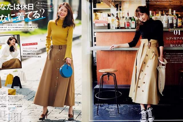 日本时尚达人太会穿半身裙,简约高级又复古,每套都是借鉴模板 穿搭技巧 第10张