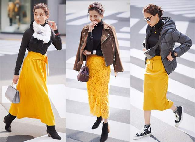 日本时尚达人太会穿半身裙,简约高级又复古,每套都是借鉴模板 穿搭技巧 第6张