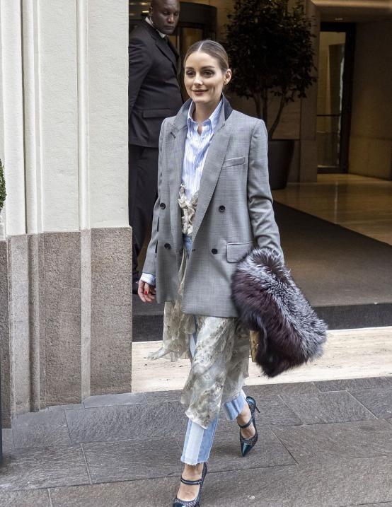 欧美街拍:小粗腿这样将能将西装穿出高级感,只要搭配直筒裤就够了 街拍潮人 第11张