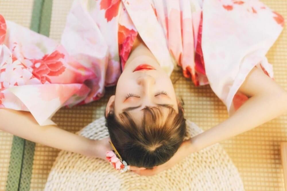 穿着粉嫩和服的日式风格美少女撩人私房写真图片 美女图片 第1张